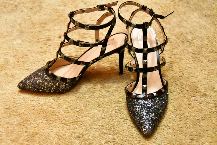 Mix No. 6 Liraven Pumps in Sparkly Black and Silver 1