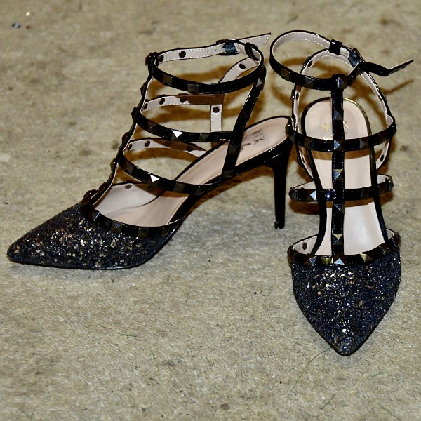 Mix No. 6 Liraven Pumps in Sparkly Black and Silver 2